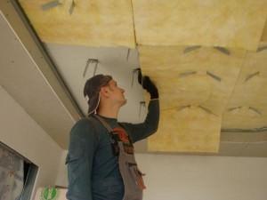 Шумоизоляция потолка в квартире под натяжной потолок