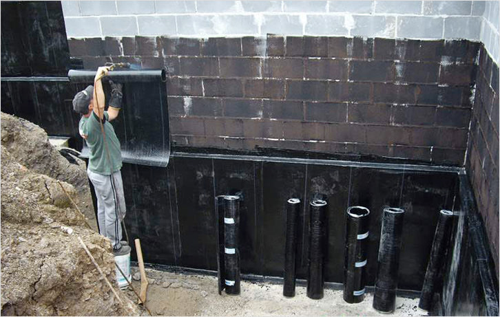 Оклеечная гидроизоляция стоимость битумно-полимерная мастика для заделки швов