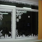 Украсить окна к новому году