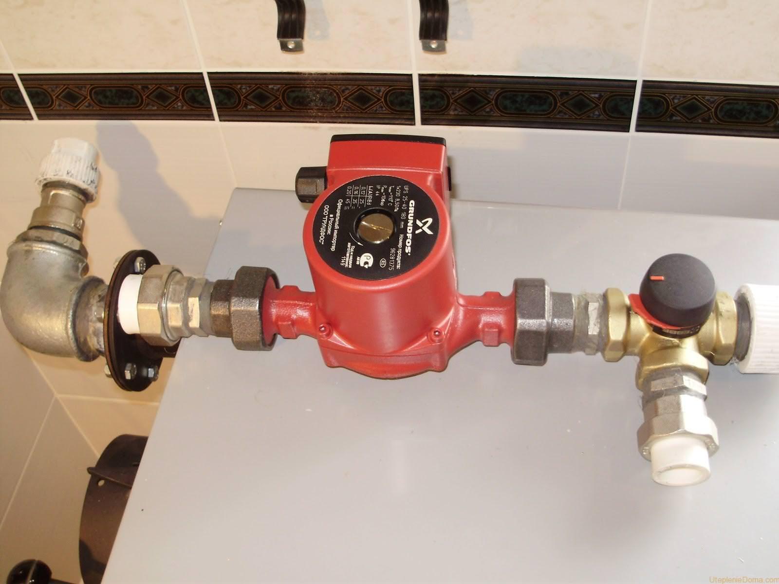 Установка насоса в системе отопления, как правильно 37