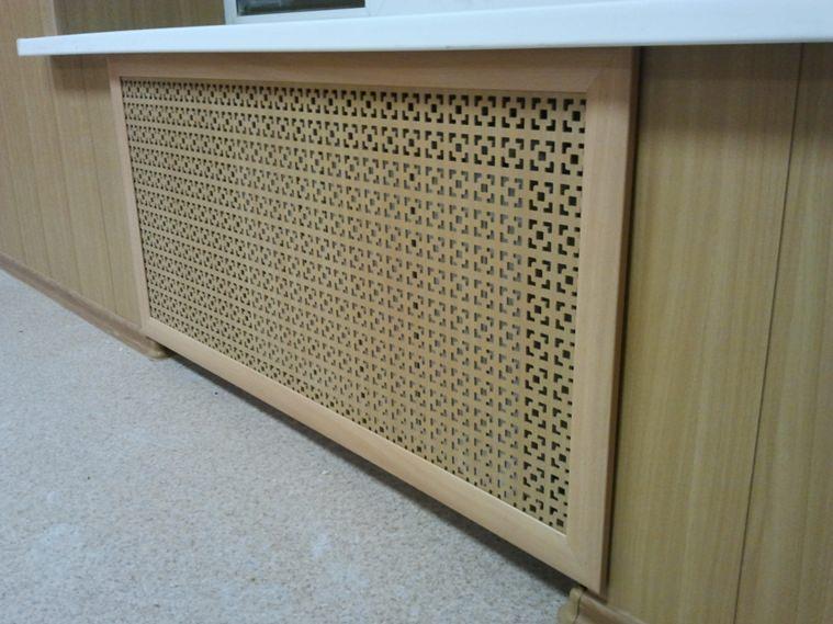 Решётка декоративная для радиатора отопления МДФ