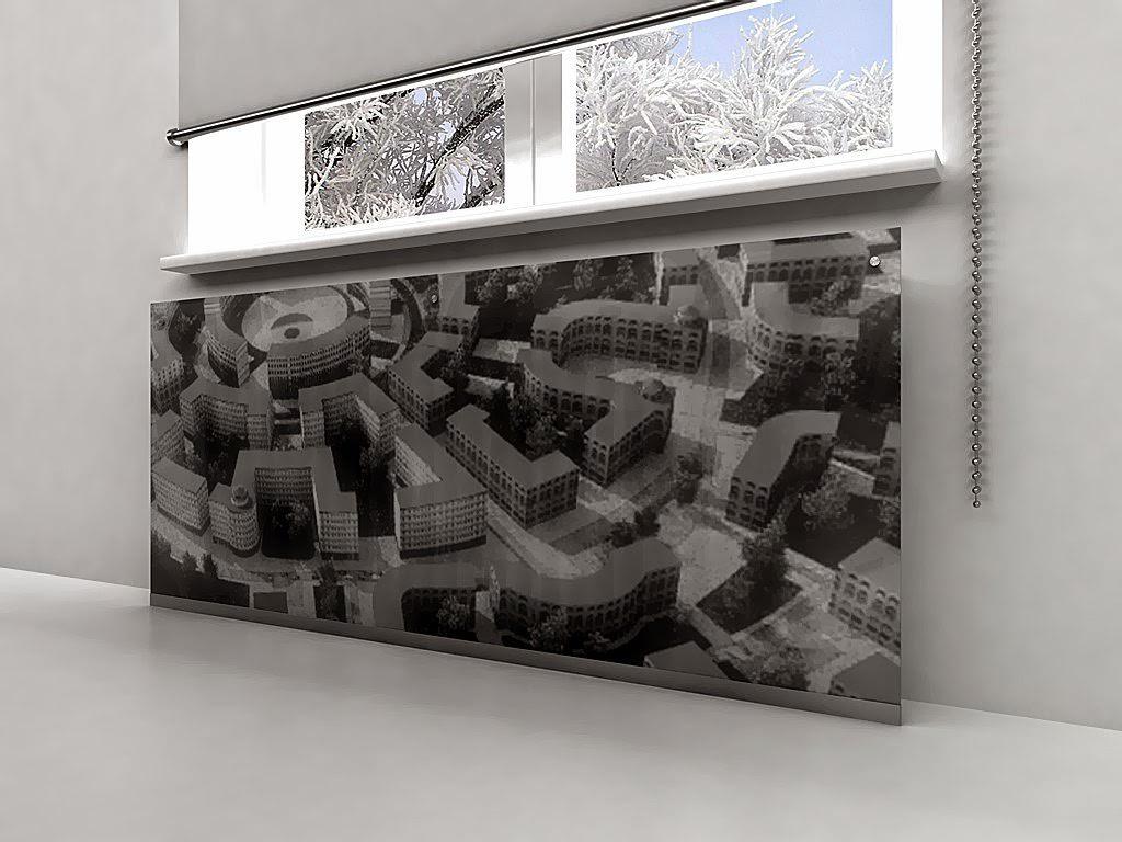 Решётка декоративная для радиатора отопления из стекла