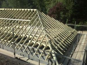 Стропильные системы вальмовых крыш