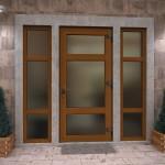 Входная пластиковая дверь со стеклом — плюсы и минусы