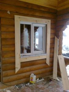 Наличник на окно в деревянном доме