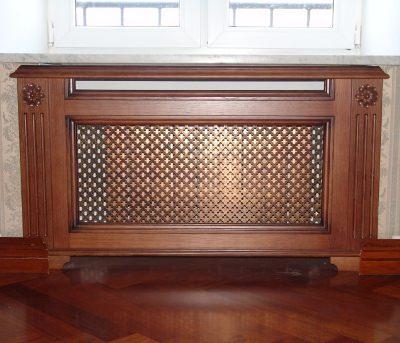 Решётка декоративная для радиатора отопления из дерева