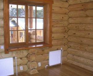 Установка деревянных окок в деревянном доме