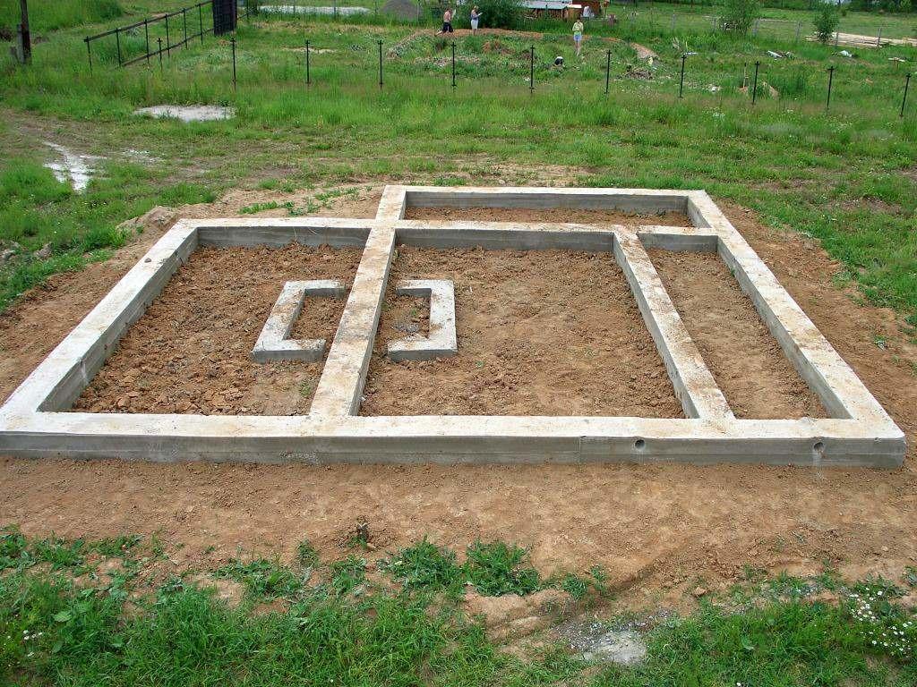 Фундамент для бани размеры